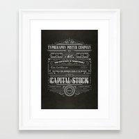 Typography Poster Compan… Framed Art Print