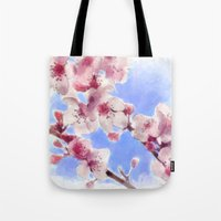 Japanese Cherry Blossoms Tote Bag