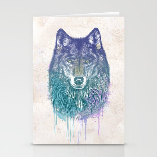 I Dream of Wolf Stationery Card