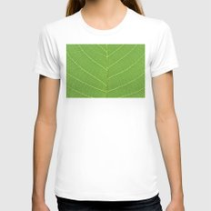 green leaf texture Womens Fitted Tee White SMALL