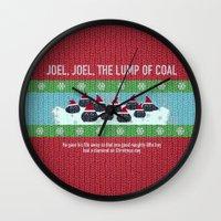 Lump Of Coal / Christmas… Wall Clock