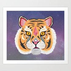 Space Tiger Art Print