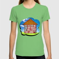 My House Womens Fitted Tee Grass SMALL