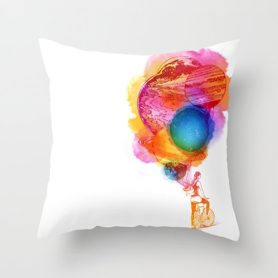 Travel Space Throw Pillow