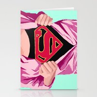 Girl, you're super Stationery Cards