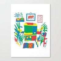 Risograph Studio Canvas Print