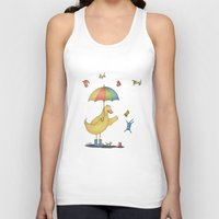 It's raining cats and dogs Unisex Tank Top