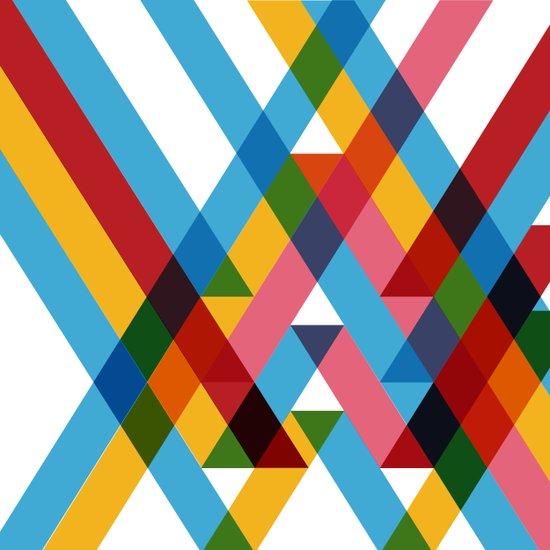 Ribbons Overlay ///www.pencilmeinstationery.com Art Print
