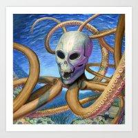 Skulloctopus Art Print