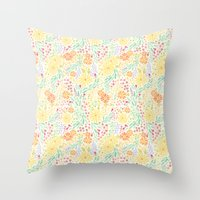 It's Floral Throw Pillow