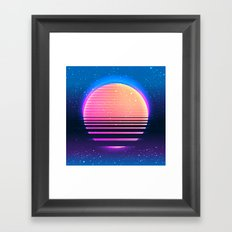 Retro Vintage 80s Or 90s… Framed Art Print