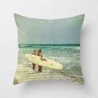 Girls of summer ttv Throw Pillow