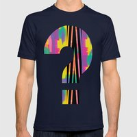 Zig Paint Mens Fitted Tee Navy SMALL