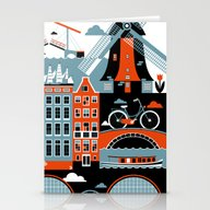 Stationery Cards featuring Amsterdam by Koivo