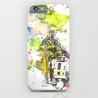 C3PO and R2D2 from Star Wars iPhone 6 Slim Case
