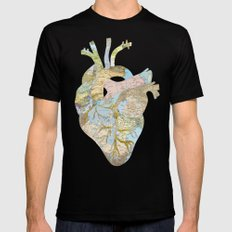 A Traveler's Heart (N.T) SMALL Mens Fitted Tee Black