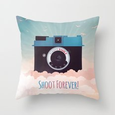 Shoot Forever Throw Pillow