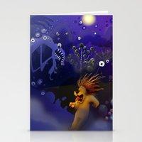 Moka In The Dark Stationery Cards