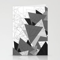 Triangle Grey Stationery Cards