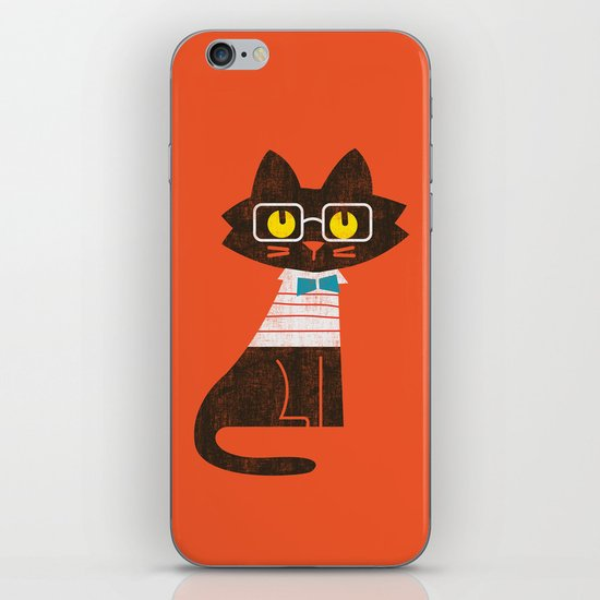 Fitz - Preppy cat iPhone & iPod Skin