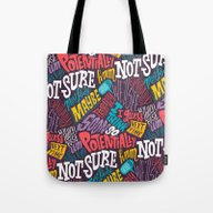 Tote Bag featuring Pattern Of Uncertainty by Chris Piascik