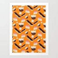 sweet things (on orange) Art Print