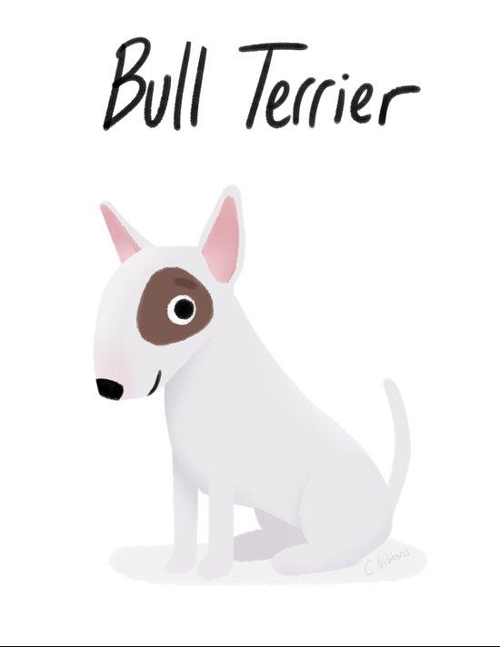 Bull Terrier - Cute Dog Series Art Print