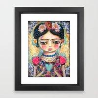 The heart of Frida Kahlo  Framed Art Print