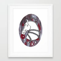 The Chained Colt Framed Art Print
