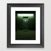 Auto Shop Door, Shrewsbu… Framed Art Print
