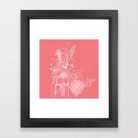 Out Garden Framed Art Print