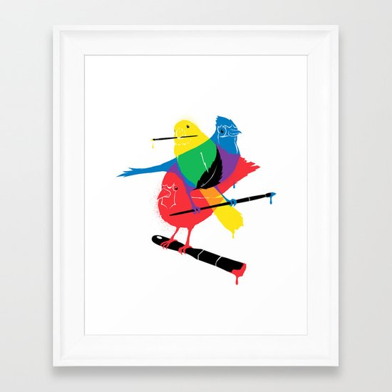 Colors of a Feather Framed Art Print