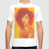 Fire Style Mens Fitted Tee White SMALL