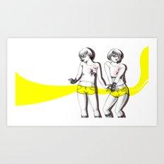 Twopose Art Print