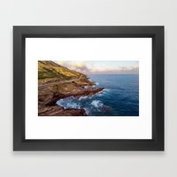 The Ka Iwi Coastline Framed Art Print