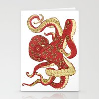 Flowered Octopus Stationery Cards