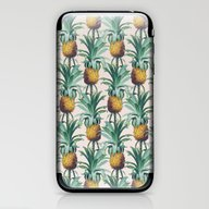 iPhone & iPod Skin featuring Pineapple Trellis by Marta Li