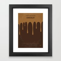 No567 My Chocolat minimal movie poster Framed Art Print
