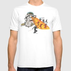 Bad Day At The Office White SMALL Mens Fitted Tee