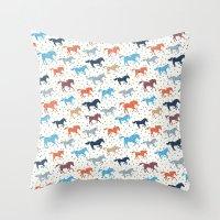 Horse Print Throw Pillow