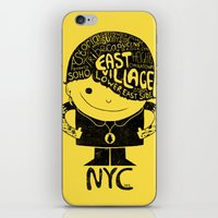 NY Club Kid - Yellow iPhone & iPod Skin