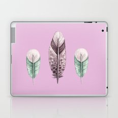 watercolor feathers (pastel pink dos) Laptop & iPad Skin