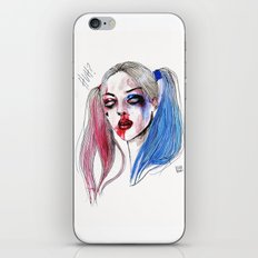 Margot as Harley quinn Fan art iPhone & iPod Skin