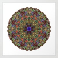Hallucination Mandala 1 Art Print