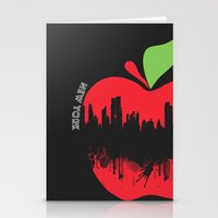 new york Stationery Cards featuring NEW YORK, NEW YORK by mark ashkenazi