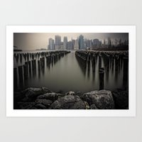 Misty Manhattan Morning Art Print