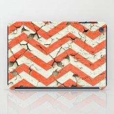 Peeling Chevrons Orange iPad Case
