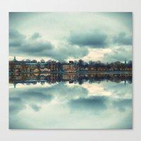 Stockholm Upside-down Canvas Print