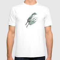 Tribal Green Mens Fitted Tee White SMALL