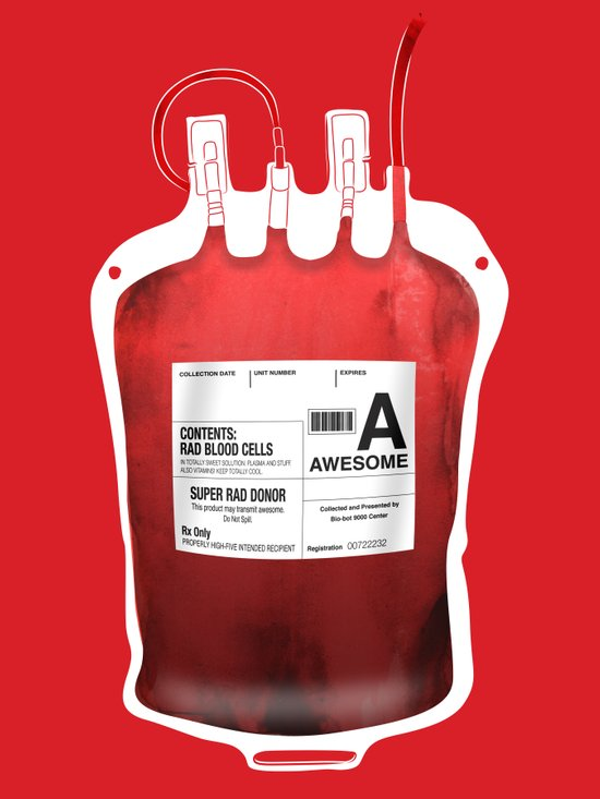 My Blood Type is A, for Awesome! *Classic* Canvas Print